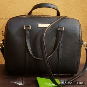 Authentic black leather Kate spade New York bag